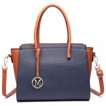 Dámská modrohnědá kabelka Maria 6627