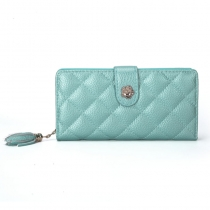 Dámská metalicky modrá peněženka Beauty  1393