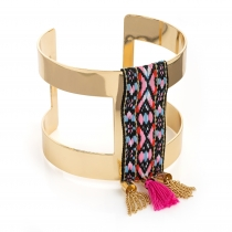 Dámský náramek ve zlaté barvě Tribal 30907