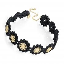 Dámský černý choker náhrdelník Lola 30892