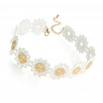 Dámský bílý choker náhrdelník Lola 30893