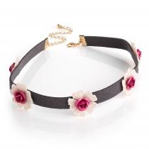 Šedý choker náhrdelník Brita 30929