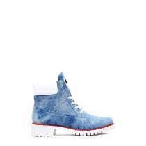 Dámské světle modré kotníkové boty Corina 1169