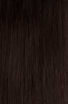 Vlasy s keratinem vlnité - 50 cm tmavě hnědá
