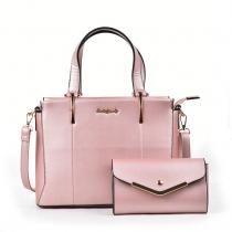 SET: Dámská růžová kabelka Myrtha 5014
