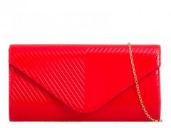 Dámské červené lesklé psaníčko Luisa 2262