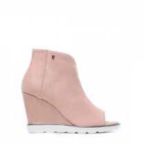 Dámské růžové sandály na klínku Raylon 1132