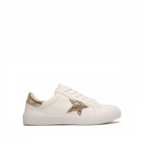 Dámské bílozlaté tenisky Estrella 8212