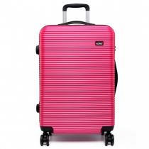 Dámský malý růžový kufr na kolečkách Travel 6676