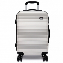 Dámský velký bílý kufr na kolečkách Travel 6676