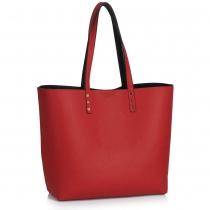 Dámská černočervená oboustranná kabelka Danielle 491