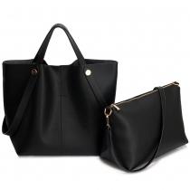 SET: Dámská černá kabelka Brenda 198