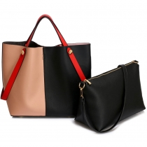 SET: Dámská černotělová kabelka Brenda 198