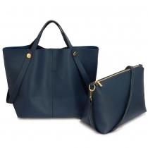 SET: Dámská námořnicky modrá kabelka Brenda 198
