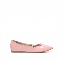 Dámské růžové baleríny Ema 3044