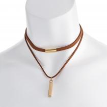 Hnědý náhrdelník Spirit 30802