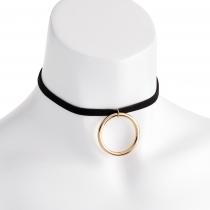 Černý náhrdelník Round 30805