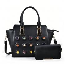 SET: Dámská černá kabelka Nevena 5133