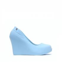 Dámské modré sandály na klínku Debora 0023