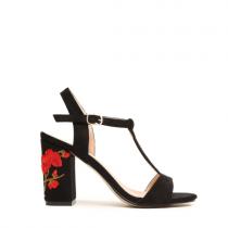 Dámské černé sandály na podpatku Fiore 8263