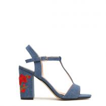 Dámské tmavě modré sandály na podpatku Fiore 8263