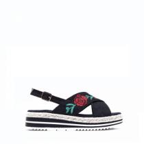 Dámské černé sandály Steffi 2082
