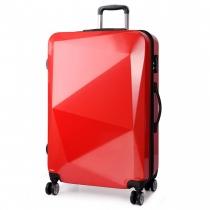 Dámský střední červený kufr na kolečkách Reise 6671