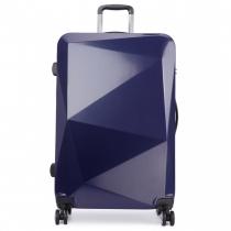 Dámský velký námořnicky modrý kufr na kolečkách Reise 6671