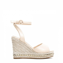 Dámské béžové sandály na klínku Carlita 2084