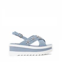 Dámské světle modré sandály na platformě Bogoo 8235