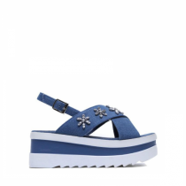 Dámské tmavě modré sandály na platformě Bogoo 8235