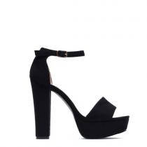 Dámské černé sandály na podpatku Dance 1254