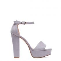 Dámské šedé sandály na podpatku Dance 1254