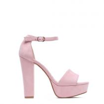 Dámské růžové sandály na podpatku Dance 1254