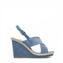 Dámské tmavě modré sandály na klínku Jamala 2072