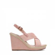 Dámské růžové sandály na klínku Jamala 2072