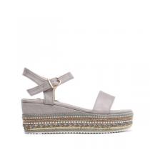 Dámské šedé sandály na platformě Giusy 2083