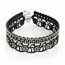 Černý choker náhrdelník Bunny 30971