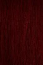 Vlasy s keratinem - 50 cm vínová, 10 pramenů