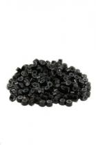 MICRO kroužky se silikonem 100ks - černé