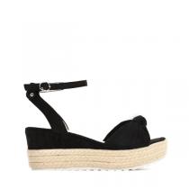 Dámské černé sandály na klínku Renesmé 6092