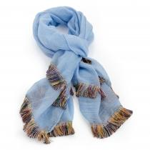 Dámský modrý šátek Boho 31013