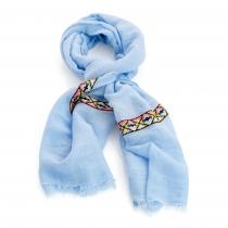 Dámský modrý šátek Balli 31014