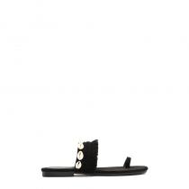 Dámské černé pantofle Indiana 8224
