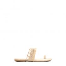 Dámské béžové pantofle Indiana 8224
