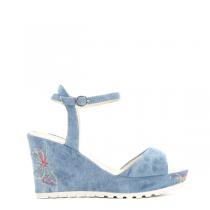 Dámské světle modré sandály na klínku Malibu 6094