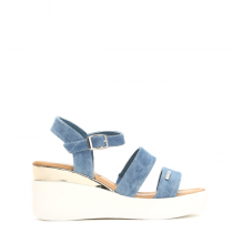Dámské světle modré sandály na platformě Audrey 6100