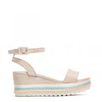 Dámské béžové sandály na platformě Keira 6095