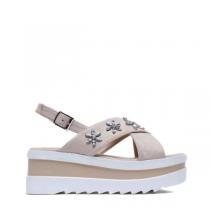 Dámské béžové sandály na platformě Bogoo 8235