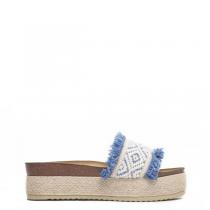 Dámské modré pantofle na platformě Etiopia 8237